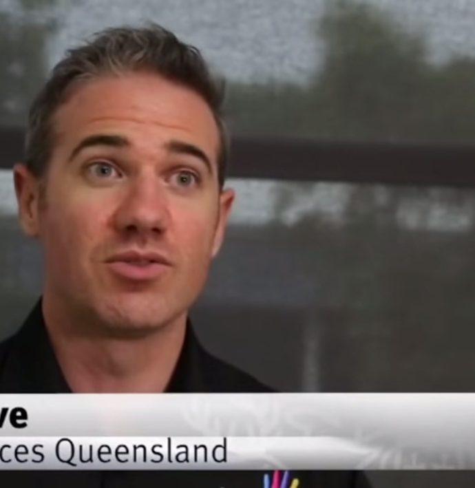 Auslan interpreter Mark Cave